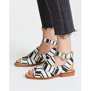 FREE PEOPLE Catherine Loafer Leather Sandals NEW